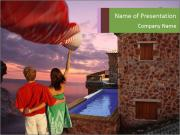 Love Couple in Hotel PowerPoint Templates