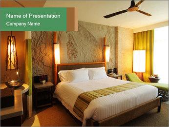 Bedroom in Hotel PowerPoint Template