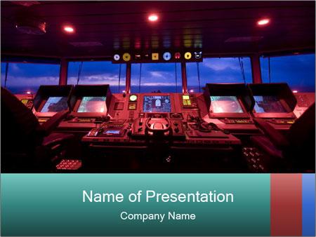 high-tech ship powerpoint template & backgrounds id 0000027309, Modern powerpoint