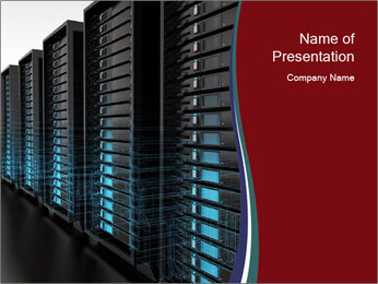 Commerce Database PowerPoint Template
