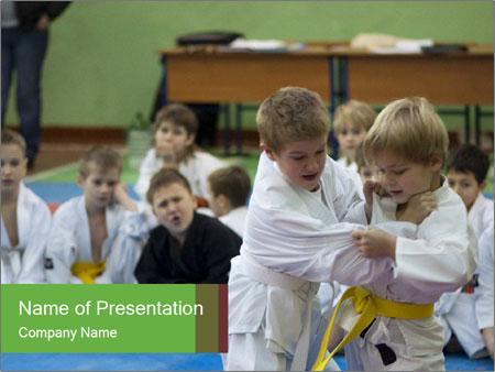 Martial arts for kids powerpoint template backgrounds id martial arts for kids powerpoint templates toneelgroepblik Choice Image