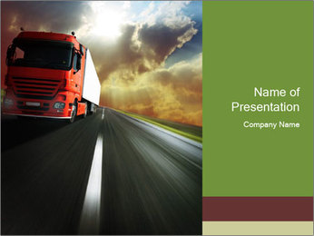 Moving Truck PowerPoint Template