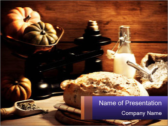 Pumpkin Bread PowerPoint Template
