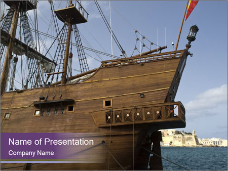 spanish old ship powerpoint template amp backgrounds id