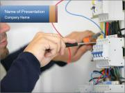 Man Fixing Electricity PowerPoint Templates
