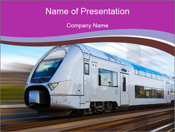 Intercity Train PowerPoint Template