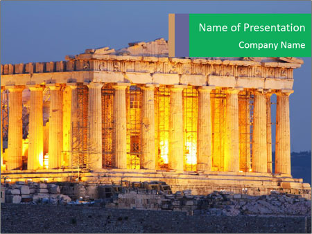 Parthenon at night powerpoint template backgrounds id 0000027530 parthenon at night powerpoint template toneelgroepblik Gallery