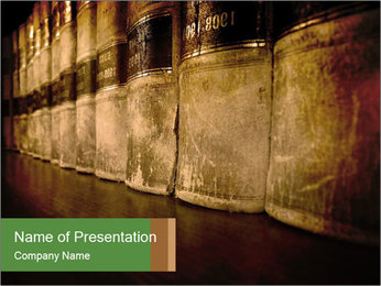 Leather Books PowerPoint Template