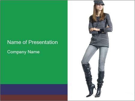denim fashion powerpoint template & backgrounds id 0000027620, Modern powerpoint