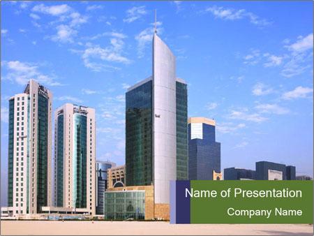 Business center in qatar powerpoint template backgrounds id business center in qatar powerpoint template toneelgroepblik Choice Image