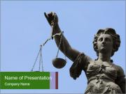 Famous Statue of Justice in Frankfurt PowerPoint Templates