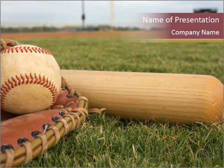 Popular Baseball Game PowerPoint Template