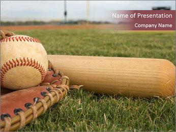 Popular Baseball Game PowerPoint Template - Slide 1