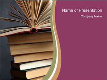 Search for Information in Books PowerPoint Template