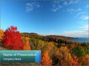 Lake Shore During Autumn Season PowerPoint Templates