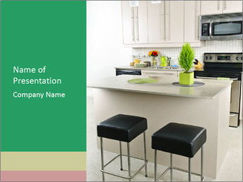 Small Barstool in the Kitchen PowerPoint Template