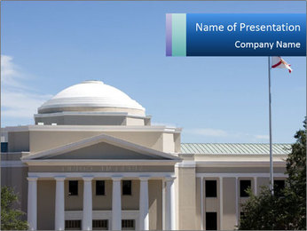 American Courthouse PowerPoint Template