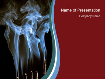 Incense in Buddhist Tample PowerPoint Template
