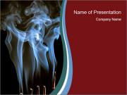 Incense in Buddhist Tample PowerPoint Templates