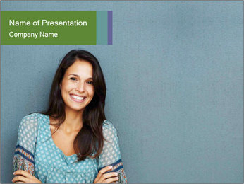 Shining Woman PowerPoint Template