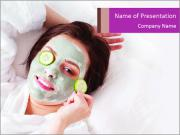 Woman in Cleansing Clay Mask PowerPoint Templates