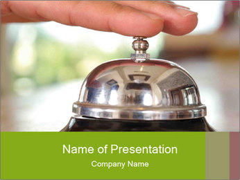 Old-Fashioned Hotel Bell PowerPoint Template