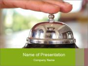 Old-Fashioned Hotel Bell PowerPoint Templates