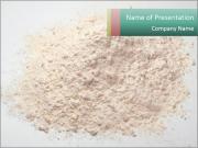 Organic Wheat Flour PowerPoint Templates