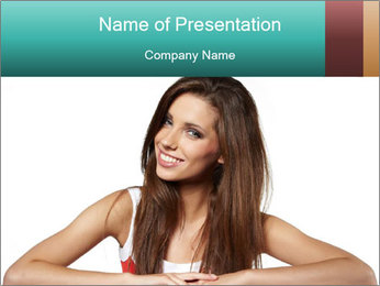 Adventures Young Lady PowerPoint Template