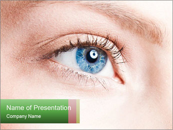Blue Clear Eye PowerPoint Template