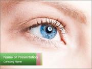 Blue Clear Eye PowerPoint Templates