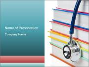 Stethoscope Lying Over Medical Books Шаблоны презентаций PowerPoint