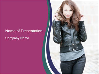 European Young Woman PowerPoint Template