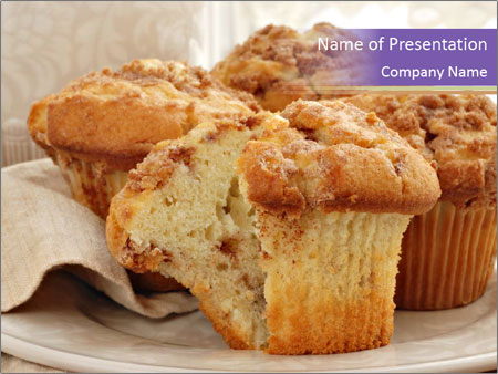 cinnamon muffin powerpoint template & backgrounds id 0000028166, Presentation templates