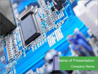 Computer Microprocessor PowerPoint Template
