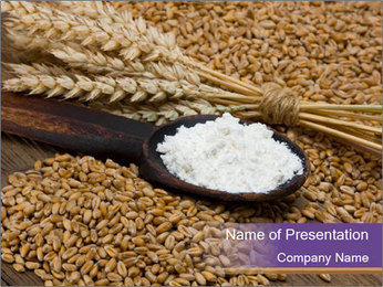 Organic Wheat Flour PowerPoint Template