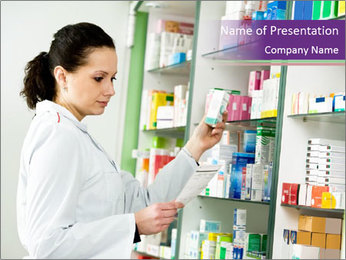Pharmacist in Uniform PowerPoint Template