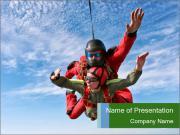 Couple Parachuting PowerPoint Templates