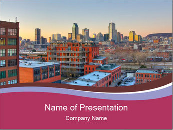 View of Monreal City PowerPoint Template