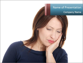 Sharp Pain in Tooth PowerPoint Template