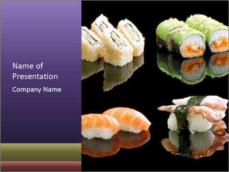 japanese restaurant menu powerpoint template & backgrounds id, Powerpoint templates