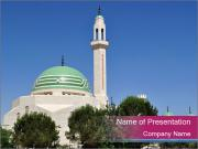 Islamic Minaret in Jordan PowerPoint Templates
