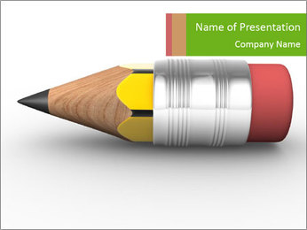 Finished Pencil PowerPoint Template