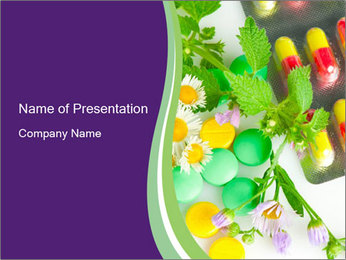 Chemical Pills vs Herbs PowerPoint Template