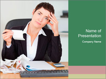 Tired Financial Director I pattern delle presentazioni del PowerPoint