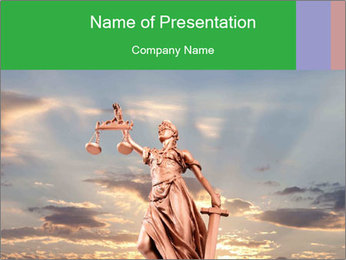 Sculpture of Justice PowerPoint Template