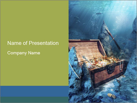 treasure chest underwater powerpoint template backgrounds google