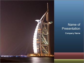 Famous Burj Al Arab Hotel in UAE PowerPoint Template
