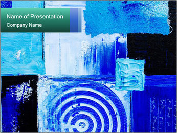 Blue Acrilic Abstraction PowerPoint Template