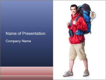 Hiking Tourist PowerPoint Template